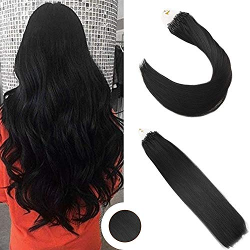 Ugeat 14inch Micro Ring Loop Hair Extensions Human