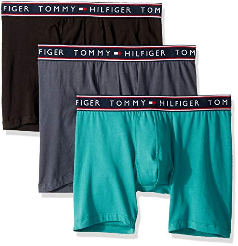 Tommy Hilfiger Men's Underwear Cotton Stretch Boxer Briefs, Oasis, Medium