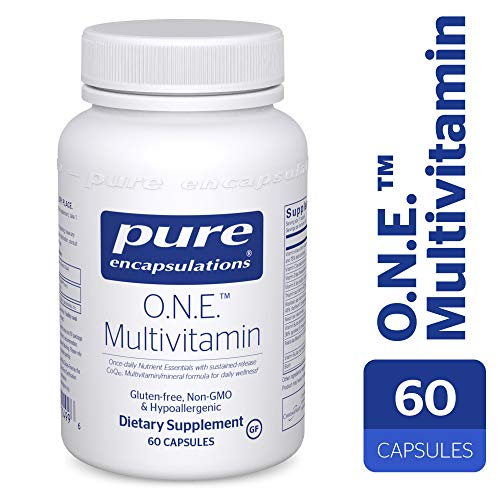 (Pure Encapsulations - O.N.E. Multivitamin - Once Daily Nutrient Essentials with Metafolin L-5-MTHF and Sustained Release CoQ10 - Hypoallergenic Dietary Supplement - 60)