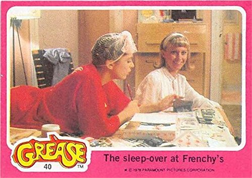 (Olivia Newton John trading card Grease 1978 Topps #40 Sandy Olsson Sleep Over)
