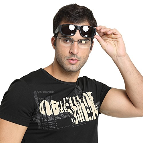 Duco Unisex Wear Over Prescription Glasses Rx Glasses Polarized Sunglasses 8956 (Black Frame Gray - Worth It Sunglasses Designer Are