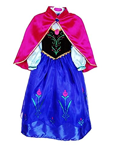 sophiashopping girl's princess Dress For This Summer blue pink S4