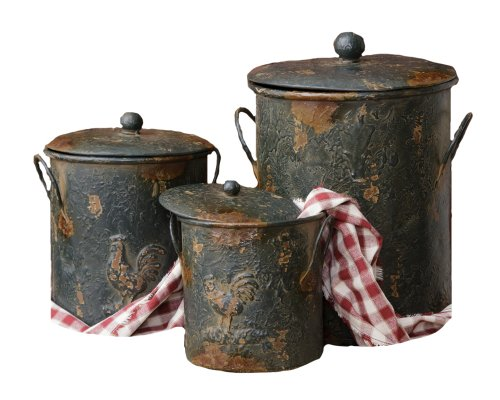 Primitive Kitchen Canisters - 9