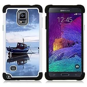 - Nature Sea Boat/ H??brido 3in1 Deluxe Impreso duro Soft Alto Impacto caja de la armadura Defender - SHIMIN CAO - For Samsung Galaxy Note 4 SM-N910 N910
