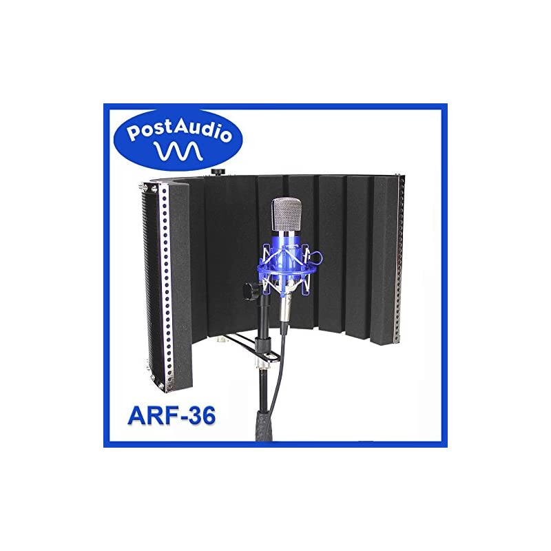 Post Audio ARF-36 Foldable Reflection Filter and Portable Vocal Booth with Carrying Bag. Studio Sound Anywhere, Anytime.
