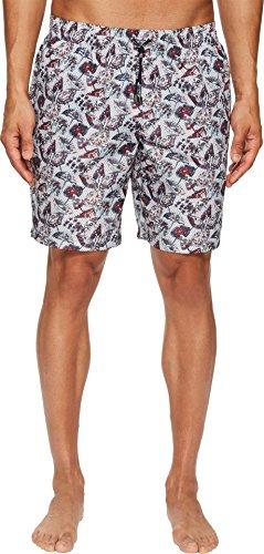(Dolce & Gabbana Men's Mid Length Wagasa Swimsuit Boxer w/Bag White Wagasa Print 6)