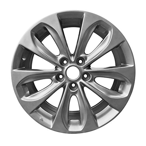 Rims Tire Aluminum - Road Ready Car Wheel For 2011-2013 Hyundai Sonata 18 Inch 5 Lug Aluminum Rim Fits R18 Tire - Exact OEM Replacement - Full-Size Spar