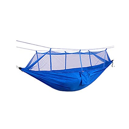 The Cheapest Price High Strength Camping Hammock With Mosquito Net Outdoor Travel Hammock For Camping Hiking Backpacking Camping & Hiking Outdoor Tools