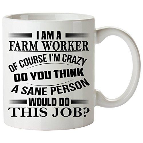 Farm Worker Mug 11 Oz - Farm Worker Gifts - Unique Coffee Mug, Coffee Cup (Farm Worker Costume)