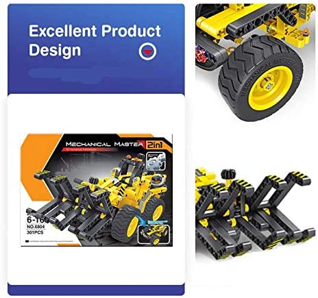 STEM Learning Toys 2 in 1 Educational Construction Dune-Buggy/&Timber Truck Mechanics Engineering Building Blocks Set for for Boys Girls 6-12 Kids Ages 5 6 7 8 9 10 11 12 Years Old Toys Gift