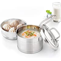 Potinv 2-Quart Stainless Steel Steamer Cooker, Saucepan with Cover, Induction Compatible, Dishwasher and Oven Safe