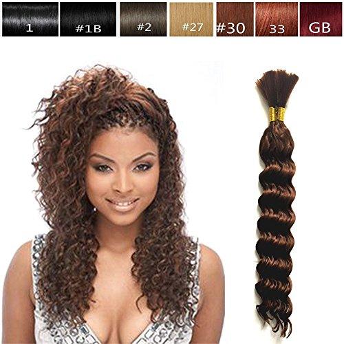 Hot Selling Deep Bulk Braiding Hair, Human Hair Quality, Top Synthetic Fibers, Bulk Hair for Micro Braiding or Crochet Braiding, Length 18', 2 PACKs Deal Color #27 Golden Blonde