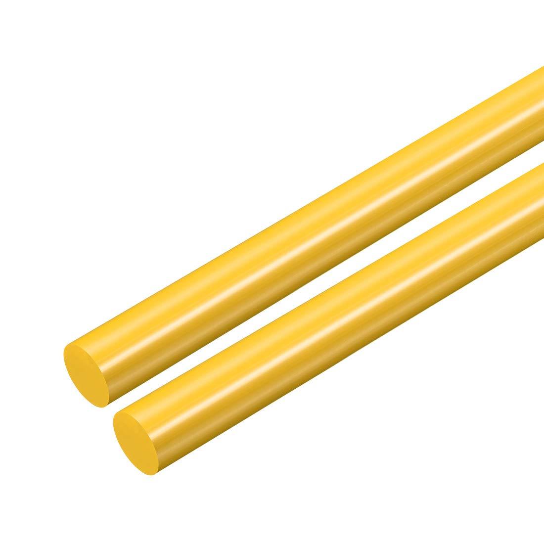 12mm Polyoxymethylene Rods Engineering Plastic Round Bars POM sourcing map 2pcs Plastic Round Rod 1//2 inch Dia 20 inch Length Yellow
