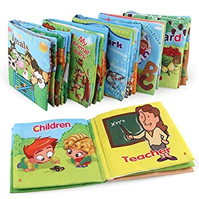 Dongtu 1Pcs Durable Soft Baby Cloth Book Early Educational Book Intelligence Development Toy Activity Play Centers: Home Improvement