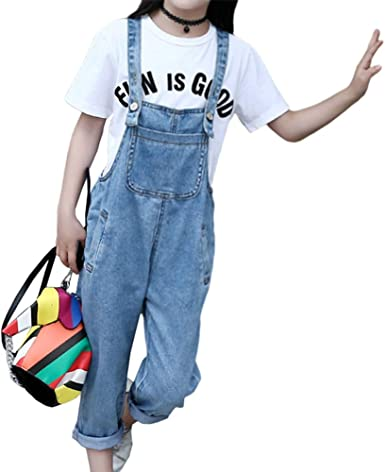 taitaibaby Kids Little Big Girls Jeans Fashion Casual Elastic Waist Denim Trousers Pants for Girls 3-14 Years