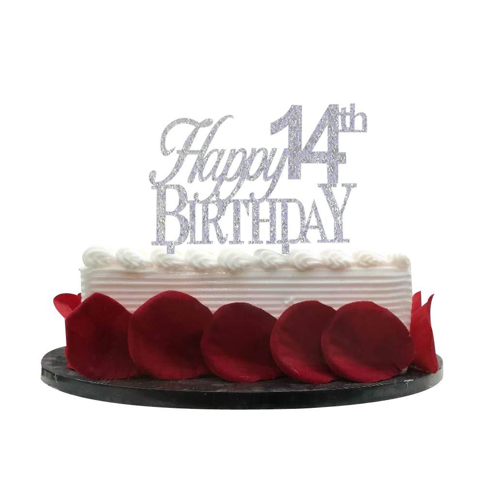 Superb Happy 14Th Birthday Cake Topper 14 Cake Topper 14Th Birthday Funny Birthday Cards Online Ioscodamsfinfo