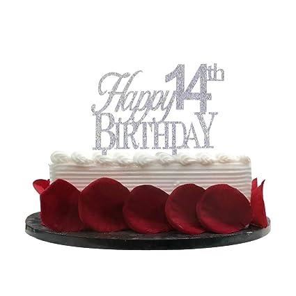 Strange Happy 14Th Birthday Cake Topper 14 Cake Topper 14Th Birthday Funny Birthday Cards Online Alyptdamsfinfo