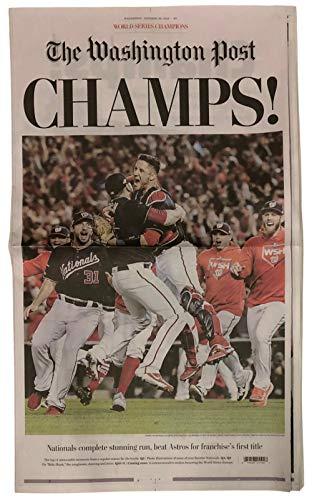 Washington Nationals World Series Champions 10/30/19 Washington Post Full Newspaper from Sports Integrity