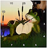 3dRose dpp_28288_1 The Frog and The Snail-Wall Clock, 10 by 10-Inch For Sale