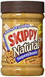 skippy all natural peanut butter - SKIPPY SUPER CHUNK Peanut Butter Spread - Natural - Chunky - Crunchy - 15 Ounce (Pack of 6)