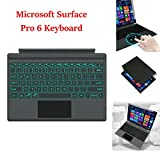 Microsoft Surface Pro 6 Type Cover Ultra-Slim Detachable Wireless Bluetooth Keyboard with Trackpad Backlit, Built-in Rechargeable Battery (Microsoft Surface Pro 6, Black)