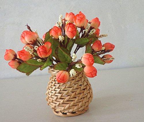Rattan Flower Basket/Creative Decoration/Willow Set Vase/Bamboo Weaving Vase-B