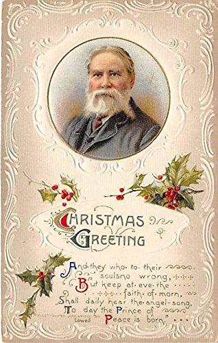 Christmas Greetings Lowell Famous People Postcard