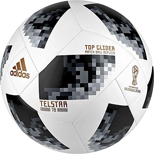 adidas FIFA World Cup Glider Ball White/Black/Silver Metallic, -