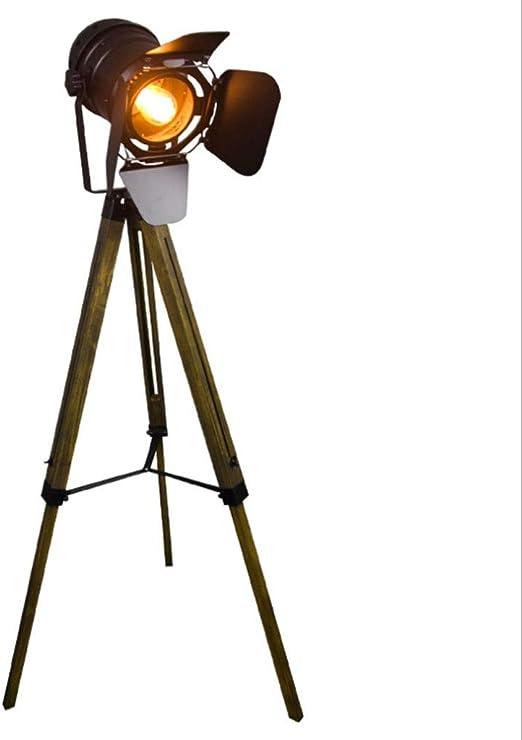 Lámparas de pie Lámpara de pie de trípode de Estilo Industrial ...
