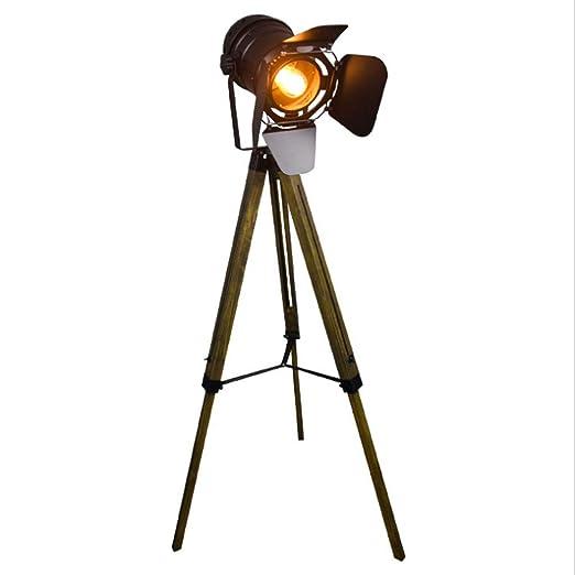 Lámpara de pie de trípode de Estilo Industrial Vintage ...