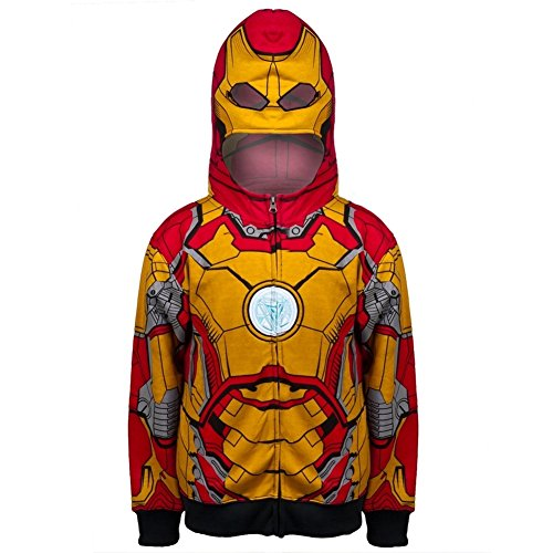Iron Man - Open 42-M Costume Juvy Zip Hoodie - Juvy (Iron Man Couples Costume)