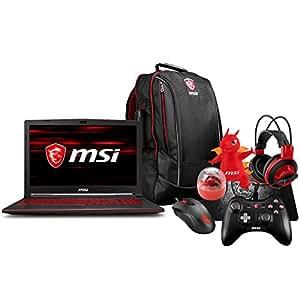 "MSI GL63 8RC-069 (i5-8300H, 8GB RAM, 256GB SATA SSD, NVIDIA GTX 1050 4GB, 15.6"" Full HD, Windows 10) Gaming Notebook"