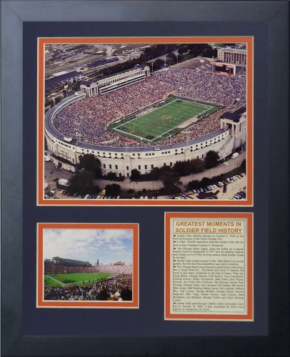 (Legends Never Die Soldier Field Old Framed Photo Collage, 11x14-Inch)