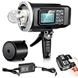 Neewer 600W GN87 HSS Outdoor Flash Strobe Light for Nikon DSLR Camera,with 2.4G Wireless Trigger&8700mAh Battery to Provide 500 Full Power Flashes Recycle in 0.01-2.5s Bowen Mount (NW600BM)