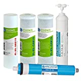 home drinking water treatment systems APEC Water Systems FILTER-MAX-ES50 50 GPD High Capacity Complete Replacement Filter Set For Essence Series Reverse Osmosis Water Filter System Stage 1-5