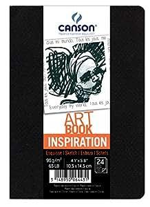 Canson - CANSON Carnet de dessins ARTBOOK INSPIRATION, A6, noir