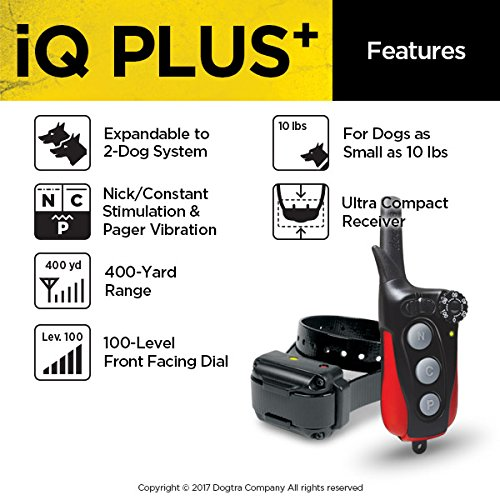 Dogtra IQ Plus+ Remote Training Collar - 400 Yard Range, Waterproof
