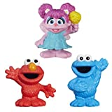 Set of 3: Sesame Street Mini-Figure Toys - Elmo, Cookie Monster & Abby Cadabby