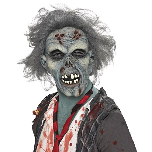 Zombie Tennis Player Costume (Zombie Mask Adult Scary Halloween Costume Fancy Dress)