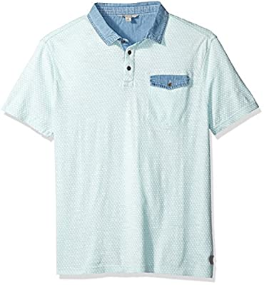 Calvin Klein Jeans Men's Short Sleeve Diamond Print Polo Shirt