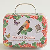 Gold Happy Europe Style Vintage Suitcase Shape Candy Storage Box Wedding Favor Tin Box Sundries Organizer Container Small Decoration V3626