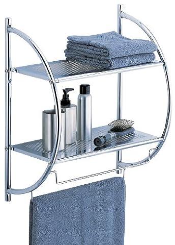 Organize It All 2-Tier Shelf with Towel Bars (1753W-1)