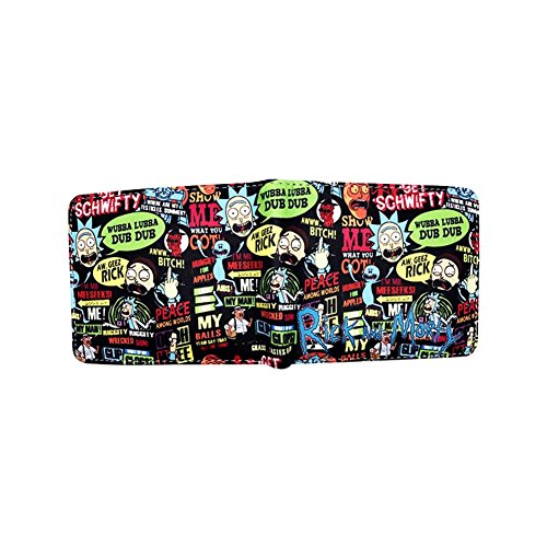 Rick & Morty Quotes Comic Cartoon Men's Wallet from Outlander w/Gift Box