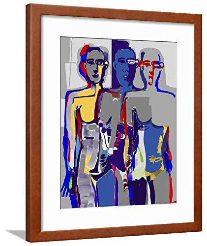 Diana Ong, Brown Framed Matted Wall Art Print, 24x18 in ()