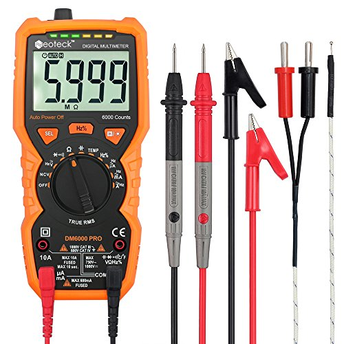 Multimeters Neoteck 6000 Counts Auto Ranging AC/DC Digital Multimeters with...