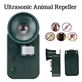 PowerRider Ultrasonic Animal Repeller,Activated with Motion,Ultrasonic and PIR Sensor Waterproof repellent for Dogs,Cats,Foxes,Mice,Birds,Skunks,Etc.