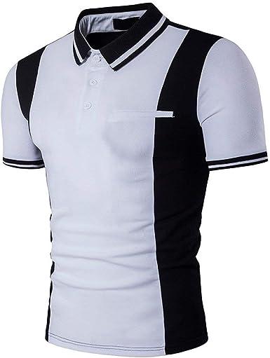 Camisas Polo Camisa De Manga Corta Polo De Modernas Casual con Cuello En Color para Hombre