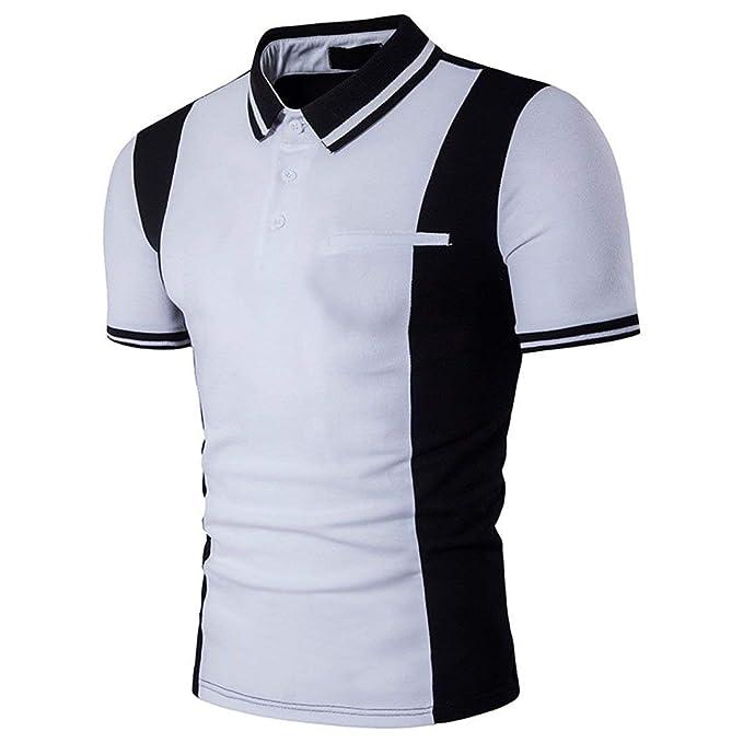 7cc75d7f67911 Camisas Polo Camisa De Manga Corta Polo De Modernas Casual con Cuello En  Color para Hombre ...