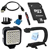 SAVEon Fits GoPro Hero 4 LED Light Action Grip Accessory Kit
