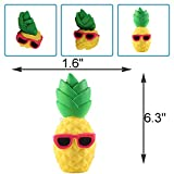 """Anboor 6.3"""" Squishies Slow Rising Kawaii Scented Soft Squishies Pineapple Toy For Kids or Stress Relief Cool Sunglasses"""